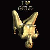 Buy canvas prints of I Love Gold by Patrick Giner