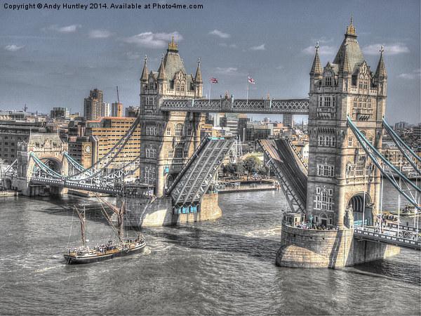Tower Bridge London Canvas print by Andy Huntley