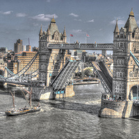 Buy canvas prints of Tower Bridge London by Andy Huntley