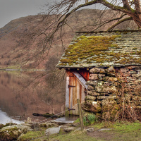 Buy canvas prints of Boat House by Andy Huntley