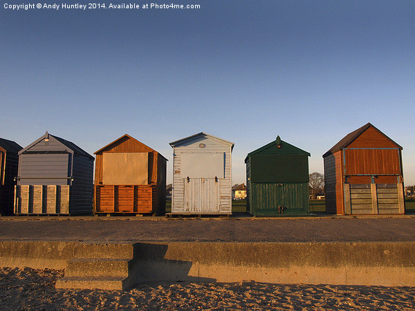 Beach Huts Canvas print by Andy Huntley