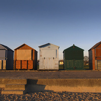 Buy canvas prints of Beach Huts by Andy Huntley