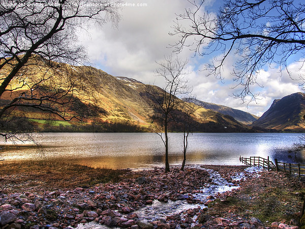 Lake Buttermere Canvas print by Andy Huntley