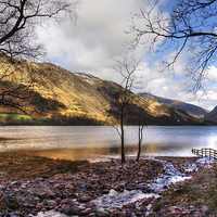 Buy canvas prints of Lake Buttermere by Andy Huntley