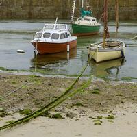 Buy canvas prints of  Fishing Boats at Mousehole, Cornwall, England by Carolyn Eaton
