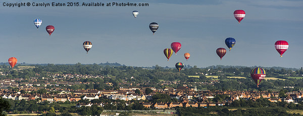 Balloons over Bristol Canvas Print by Carolyn Eaton
