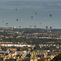 Buy canvas prints of  Balloons over Bristol by Carolyn Eaton