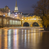 Buy canvas prints of Bath by Night by Carolyn Eaton