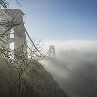Buy canvas prints of Clifton Suspension Bridge, Bristol in Winter by Carolyn Eaton