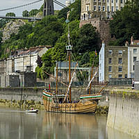 Buy canvas prints of The Matthew of Bristol by Carolyn Eaton