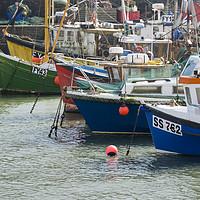Buy canvas prints of Mevagissey Fishing Boats, Cornwall by Carolyn Eaton