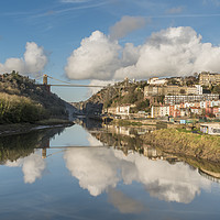 Buy canvas prints of Clifton Suspension Bridge Reflected by Carolyn Eaton