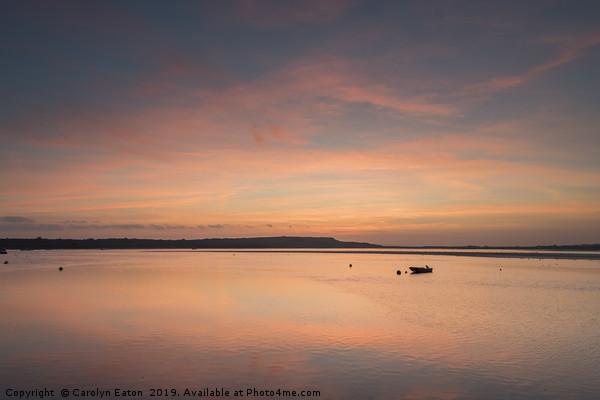 Sunset at Mudeford Sandbank Canvas print by Carolyn Eaton