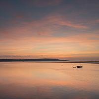 Buy canvas prints of Sunset at Mudeford Sandbank by Carolyn Eaton