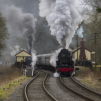 Buy canvas prints of Letting off steam by Alan Tunnicliffe