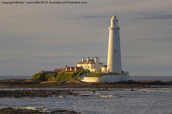 St Marys Lighthouse Canvas print by Alan Tunnicliffe