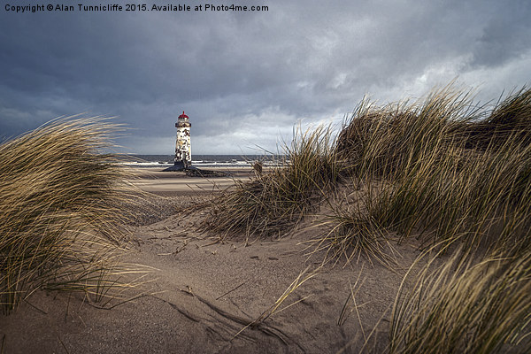 Talacre Lighthouse Canvas print by Alan Tunnicliffe