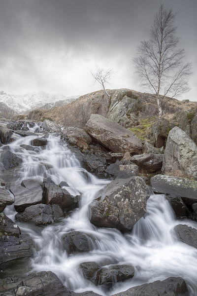 A Winter Waterfall Canvas print by Christine Smart
