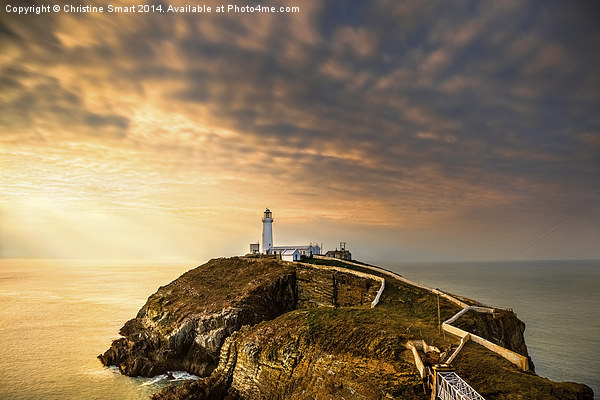 SouthStack Lighthouse Sunset Canvas print by Christine Smart