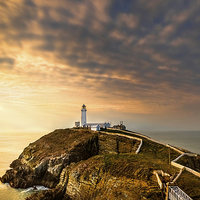 Buy canvas prints of SouthStack Lighthouse Sunset by Christine Smart