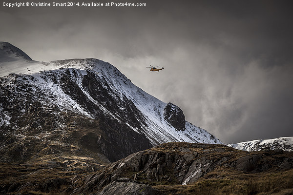 RAF Mountain Rescue in Snowdonia Canvas print by Christine Smart