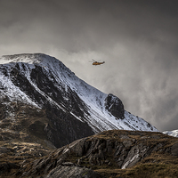 Buy canvas prints of RAF Mountain Rescue in Snowdonia by Christine Smart