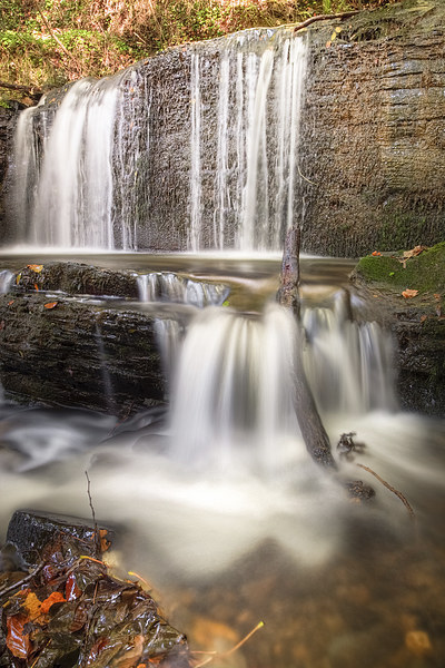 Stepped Waterfall Autumn Colours Canvas print by Christine Smart