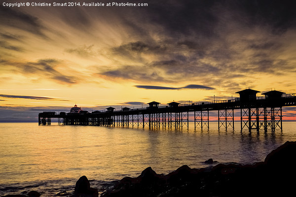 Sunrise at Llandudno Pier Canvas print by Christine Smart