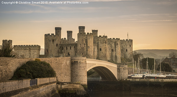 Conwy Castle Sunset Panorama Canvas print by Christine Smart