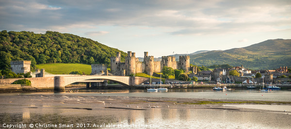 Conwy Harbour & Quay, Panorama Canvas print by Christine Smart
