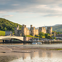 Buy canvas prints of Conwy Harbour & Quay, Panorama by Christine Smart