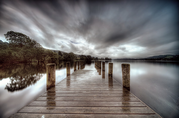 Coniston Jetty Canvas print by Richard Berry