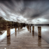 Buy canvas prints of Coniston Jetty by Richard Berry