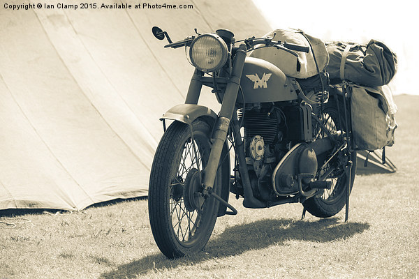 World war Two motor cycle Canvas print by Ian Clamp