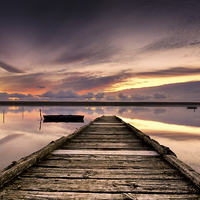 Buy canvas prints of Sundown at the Jetty by Helen Hotson