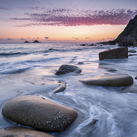Buy canvas prints of Porth Nanven Beach by Helen Hotson