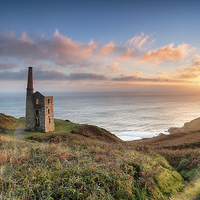 Buy canvas prints of Sunset at Rinsey Head by Helen Hotson