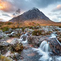 Buy canvas prints of Sunset at Buachaille Etive Mor by Helen Hotson