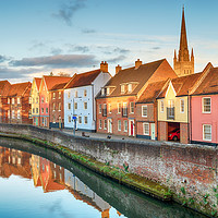 Buy canvas prints of Town Houses in Norwich by Helen Hotson