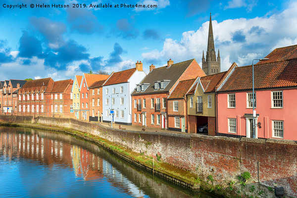 Norwich in Norfolk Canvas print by Helen Hotson