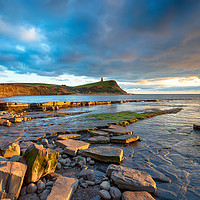 Buy canvas prints of Dramatic sky over Kimmeridge Bay by Helen Hotson