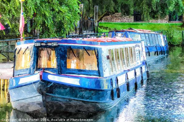 Fancy a boat trip? Canvas print by Neil Porter