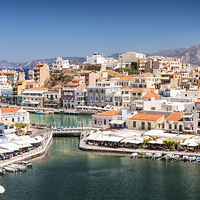 Buy canvas prints of Agios Nikolaos Harbour by Antony McAulay