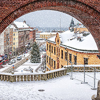 Buy canvas prints of Helsingborg Winter Through the Archway by Antony McAulay