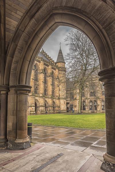 Glasgow University ThroughThe Archway Canvas print by Antony McAulay