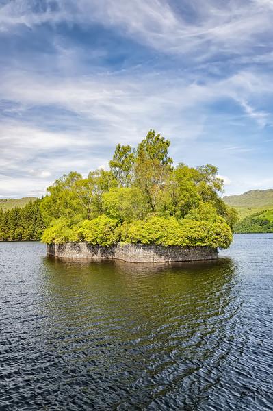Loch Katrine Factors Isle Canvas print by Antony McAulay