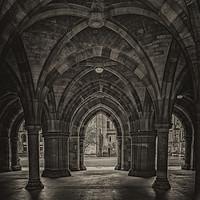 Buy canvas prints of Glasgow University Cloisters by Antony McAulay