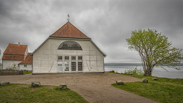 Fredensborg Palace Boathouse Canvas print by Antony McAulay