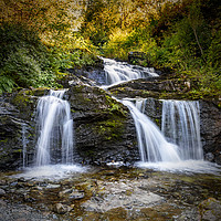 Buy canvas prints of Trondheim Ilabekken Waterfall Square Composition by Antony McAulay