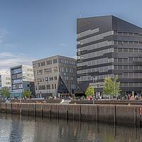 Buy canvas prints of Trondheim Snohetta Powerhouse Waterfront View by Antony McAulay